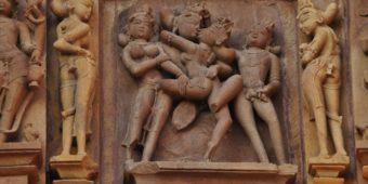 inde madhya pradesh khajuraho sculpture erotique