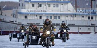 side car en mongolie
