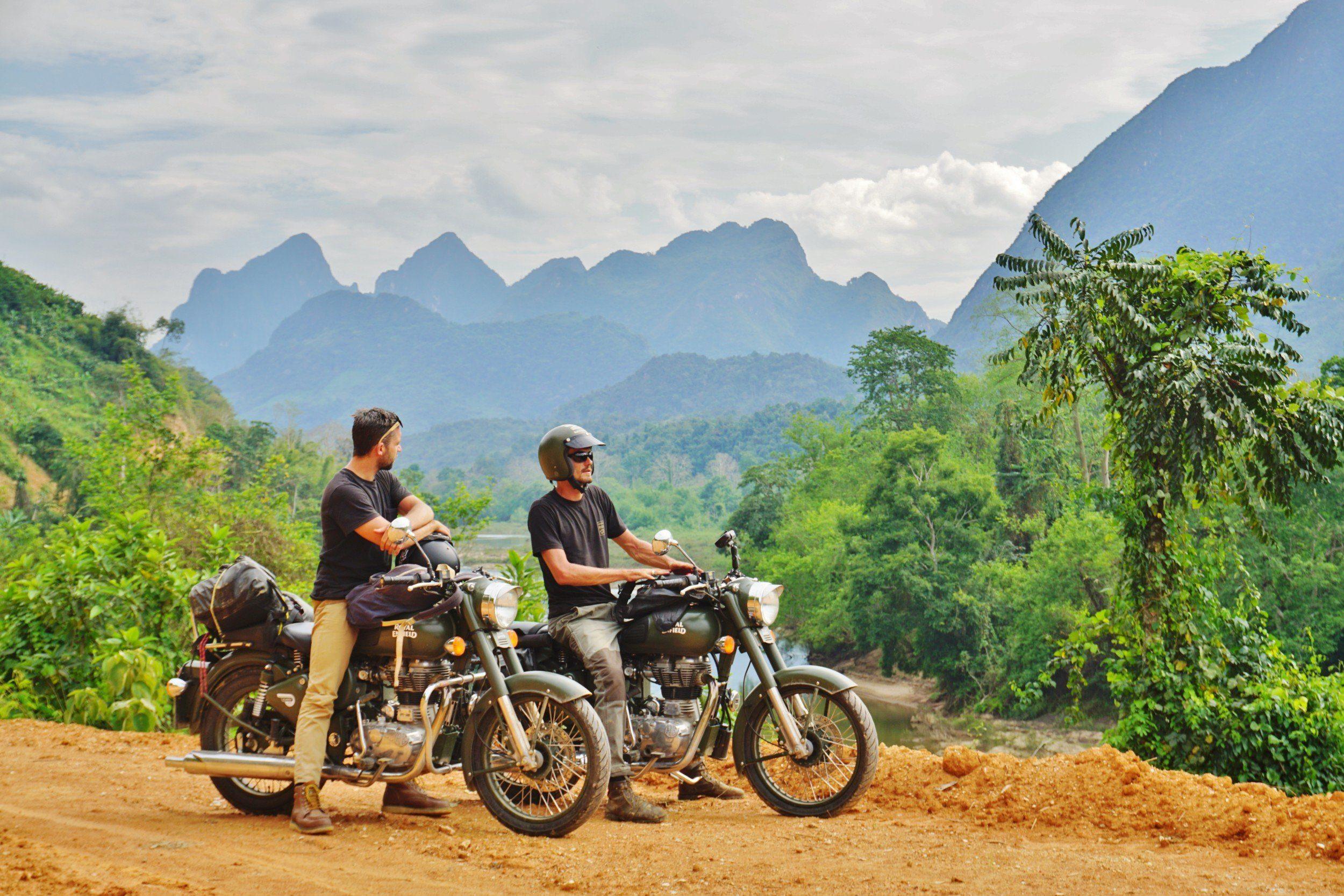 motorradtour im laos